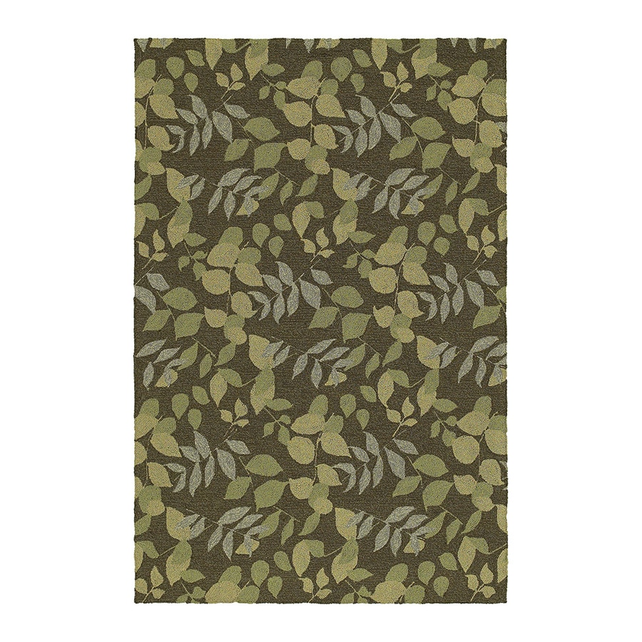 Kaleen Home and Porch Coffee Rectangular Indoor/Outdoor Handcrafted Nature Throw Rug (Common: 3 x 5; Actual: 3-ft W x 5-ft L)