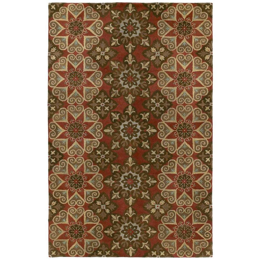 Kaleen Mystic Salsa Round Indoor Handcrafted Nature Area Rug (Common: 9 x 9; Actual: 9.75-ft W x 9.75-ft L x 4.88-ft dia)