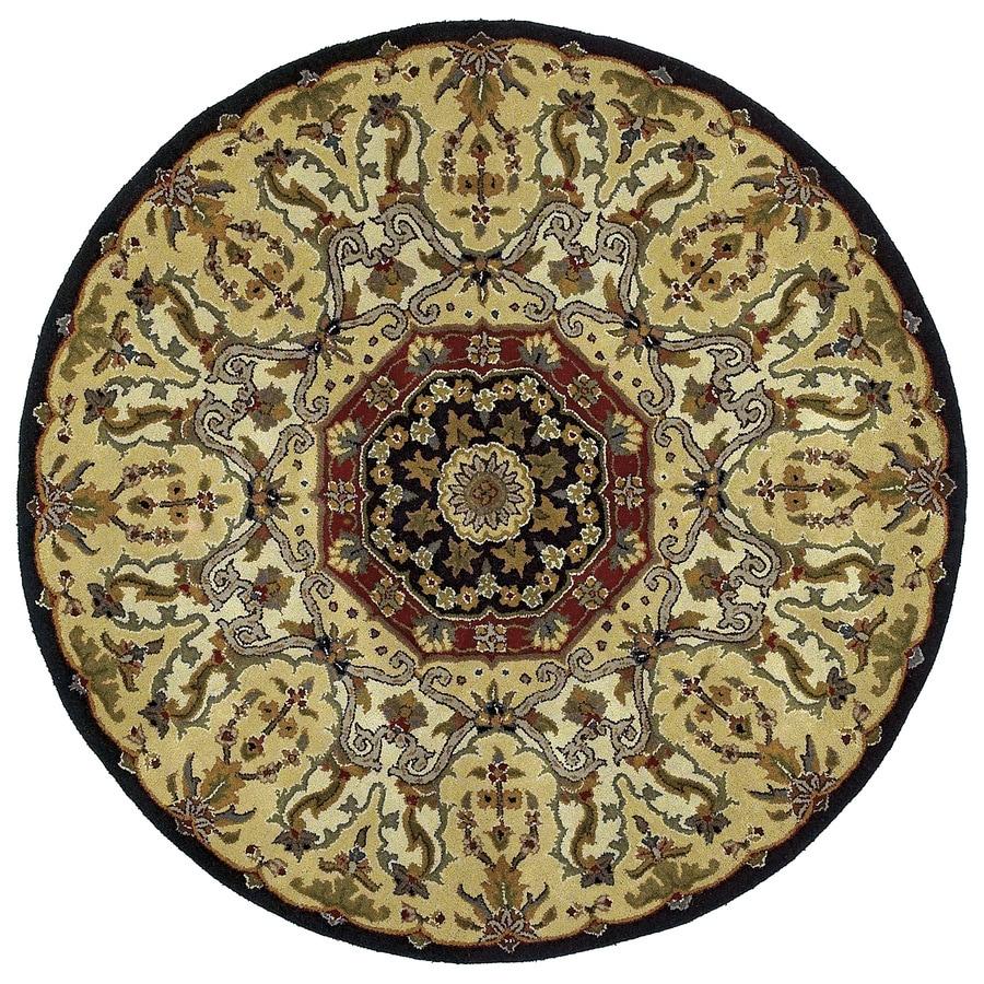 Kaleen Tara Black Round Indoor Tufted Area Rug (Common: 6 x 6; Actual: 69-in W x 69-in L)