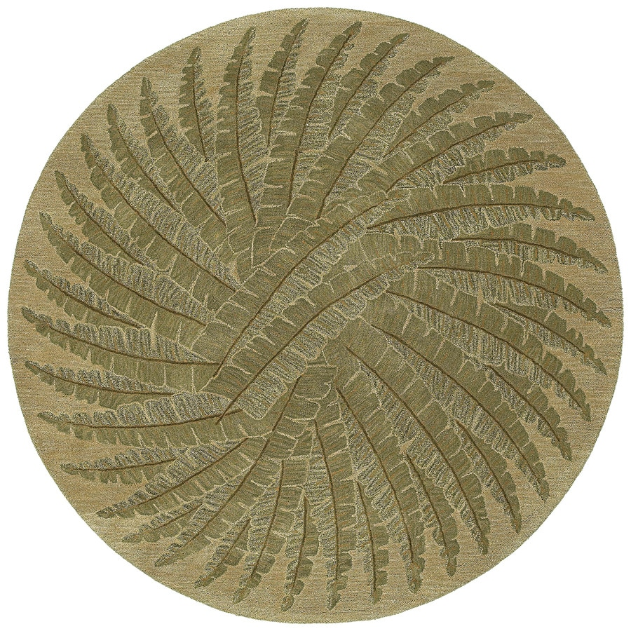 Kaleen Tara Yellow/Gold Round Indoor Handcrafted Nature Area Rug (Common: 8 x 8; Actual: 7.75-ft W x 7.75-ft L)