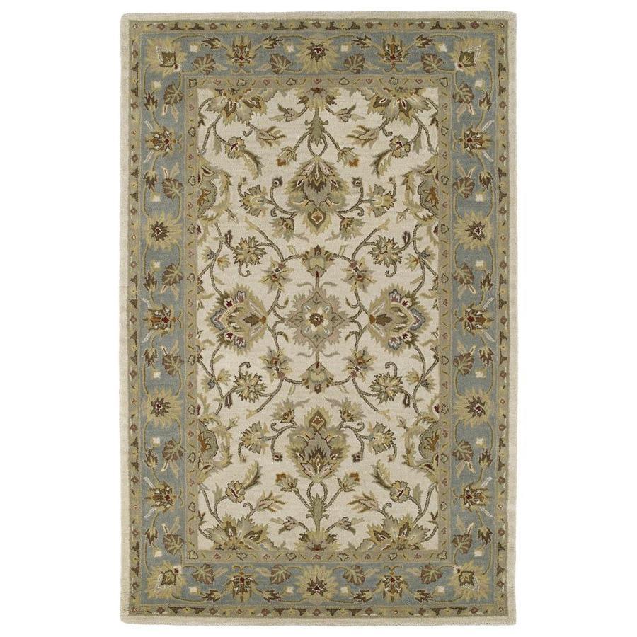 Kaleen Khazana Ivory Rectangular Indoor Handcrafted Oriental Area Rug (Common: 10 x 13; Actual: 9.5-ft W x 13-ft L)
