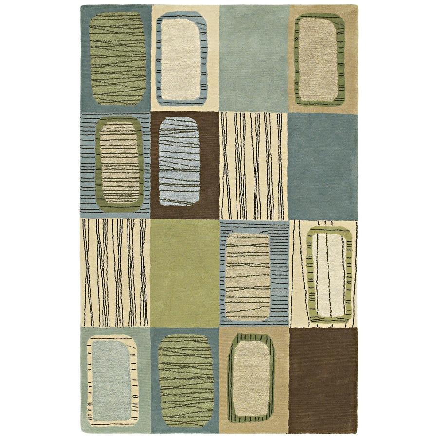 Kaleen Khazana Blue Rectangular Indoor Tufted Area Rug (Common: 8 x 11; Actual: 96-in W x 132-in L)