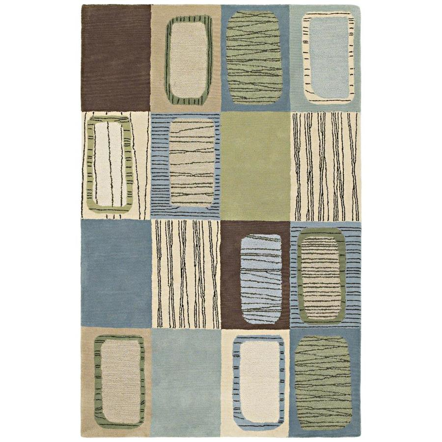 Kaleen Khazana Glacier Rectangular Indoor Handcrafted Kids Area Rug (Common: 10 x 13; Actual: 9.5-ft W x 13-ft L)