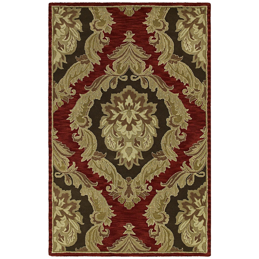 Kaleen Khazana Red/Pink Indoor Handcrafted Nature Area Rug (Common: 8 x 10; Actual: 7.5-ft W x 9-ft L)