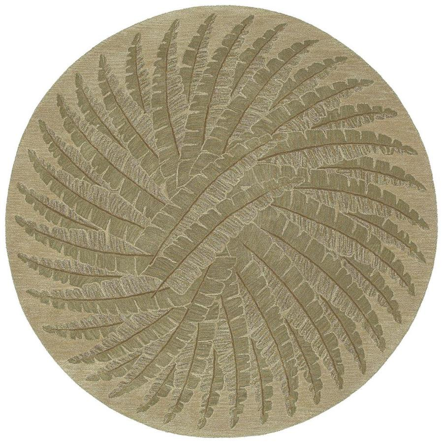 Kaleen Tara Round Gold Round Indoor Handcrafted Nature Area Rug (Common: 12 X 12; Actual: 11.75-ft W x 11.75-ft L x 5.88-ft dia)