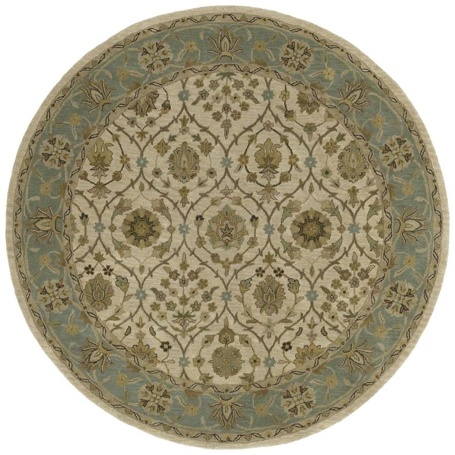 Kaleen Tara Rounds Ivory Round Indoor Handcrafted Nature Area Rug (Common: 10 x 10; Actual: 11.75-ft W x 11.75-ft L x 5.88-ft dia)
