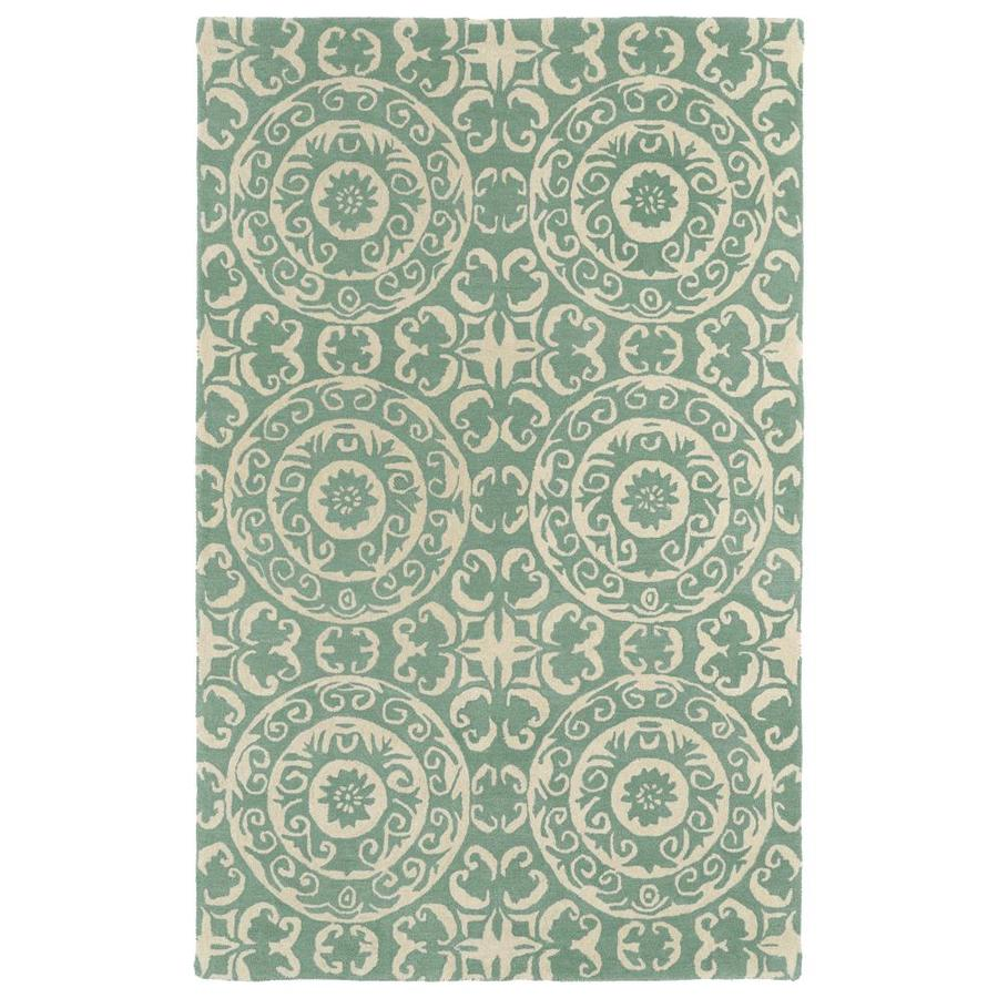 Kaleen Evolution Mint Round Indoor Handcrafted Area Rug (Common: 4 x 4; Actual: 3.75-ft W x 3.75-ft L x 1.88-ft dia)