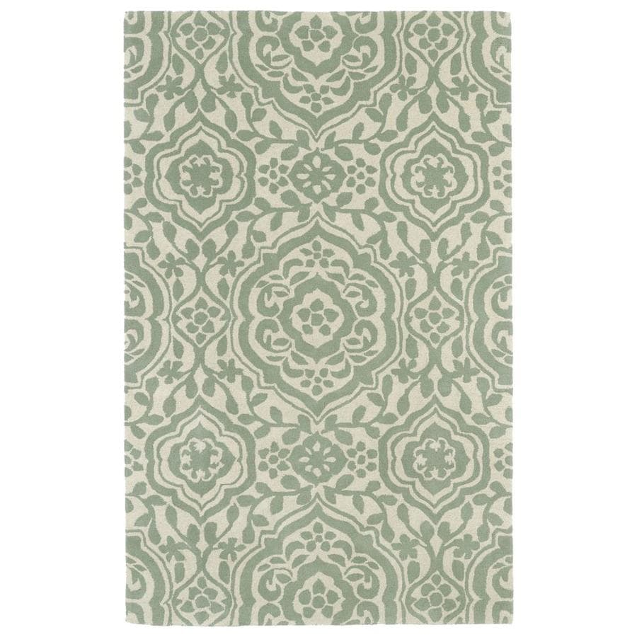 Kaleen Evolution Mint Round Indoor Handcrafted Area Rug (Common: 12 x 12; Actual: 11.75-ft W x 11.75-ft L x 5.88-ft dia)