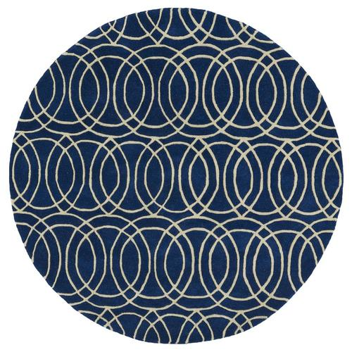 Kaleen Revolution Navy Round Indoor Handcrafted Area Rug