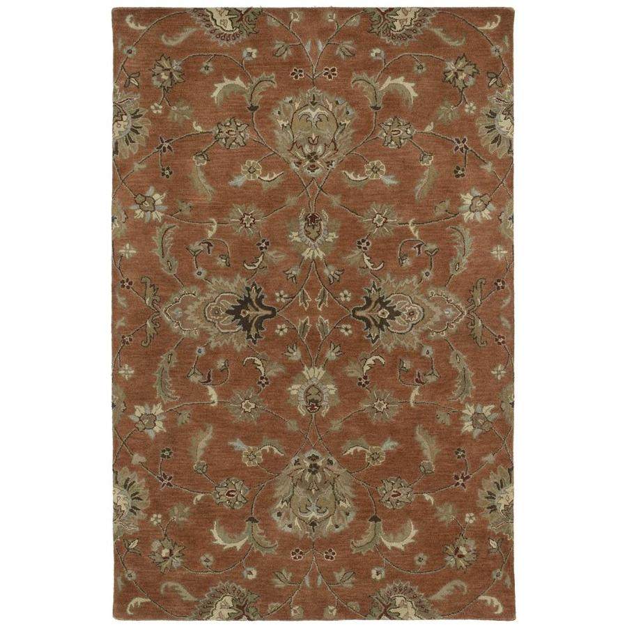 Kaleen Mystic Copper Round Indoor Handcrafted Nature Area Rug (Common: 8 x 8; Actual: 7.75-ft W x 7.75-ft L x 3.88-ft dia)