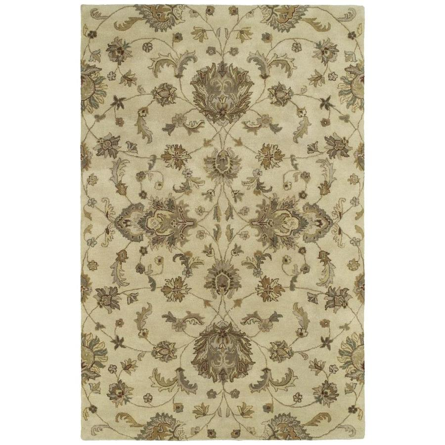 Kaleen Mystic Ivory Round Indoor Handcrafted Nature Area Rug (Common: 8 x 8; Actual: 7.75-ft W x 7.75-ft L x 3.88-ft dia)