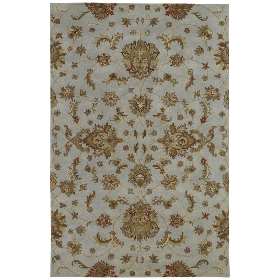 Kaleen Mystic Pewter Indoor Handcrafted Nature Area Rug (Common: 8 x 10; Actual: 8-ft W x 10-ft L)