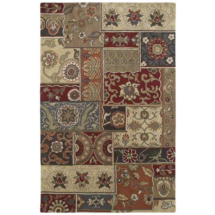 Kaleen Mystic Charcoal Indoor Handcrafted Nature Area Rug (Common: 5 x 8; Actual: 5-ft W x 7.75-ft L)