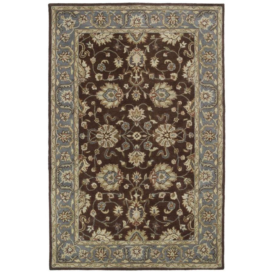 Kaleen Mystic Brown Round Indoor Handcrafted Nature Area Rug (Common: 8 X 8; Actual: 7.75-ft W x 7.75-ft L x 3.88-ft dia)