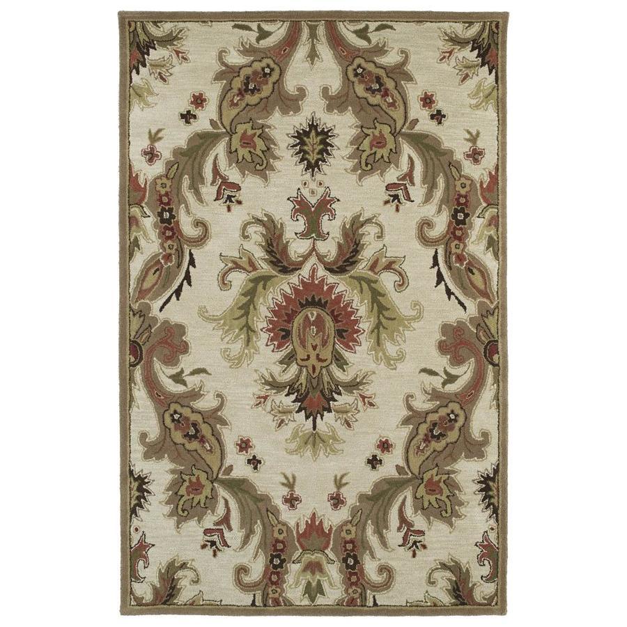 Kaleen Khazana Linen Rectangular Indoor Handcrafted Novelty Area Rug (Common: 10 x 13; Actual: 9.5-ft W x 13-ft L)