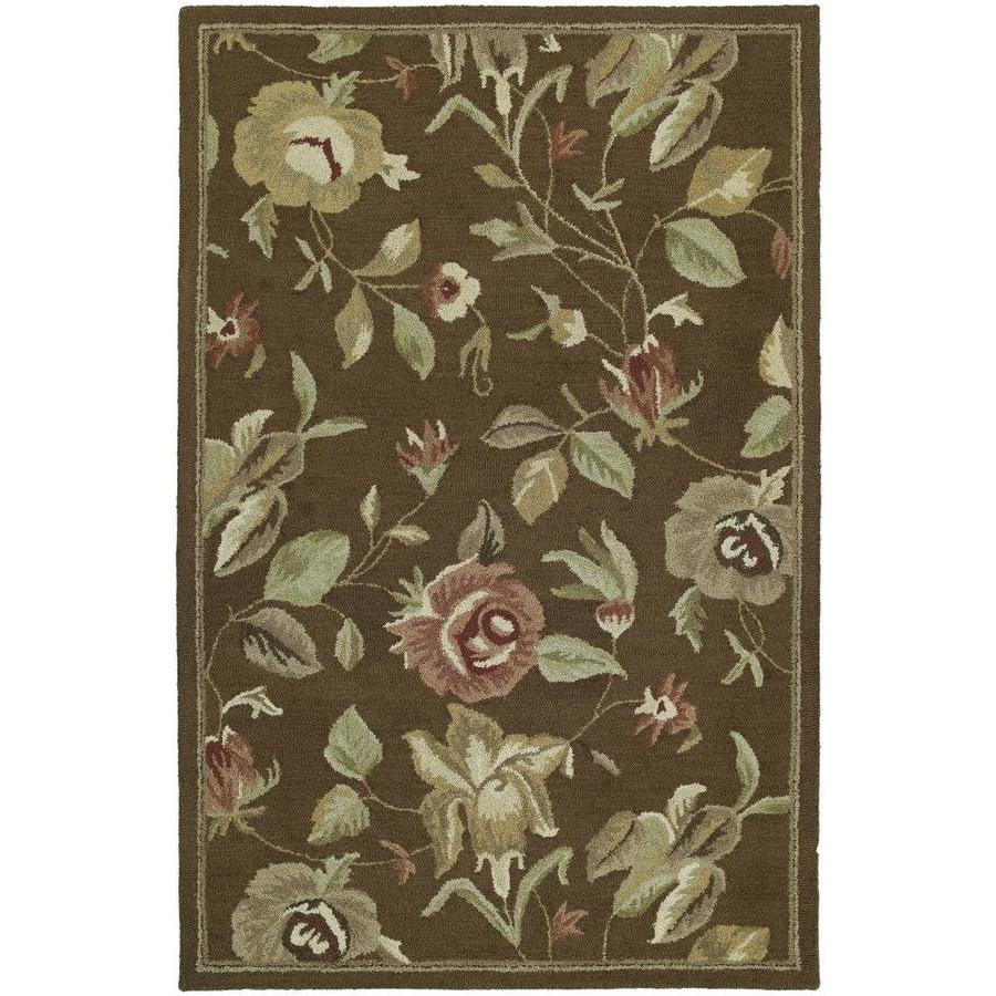 Kaleen Khazana Chocolate Rectangular Indoor Handcrafted Oriental Area Rug (Common: 10 x 13; Actual: 9.5-ft W x 13-ft L)