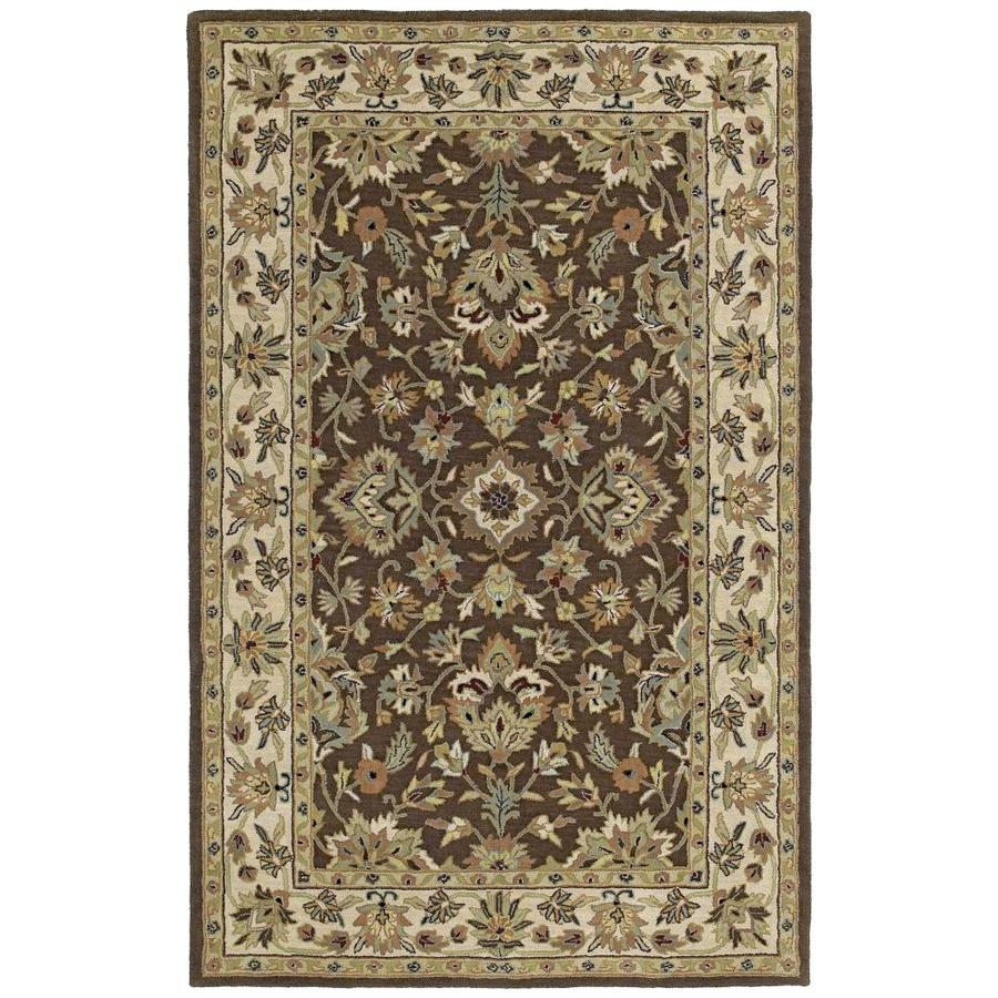Kaleen Khazana Chocolate Rectangular Indoor Handcrafted Oriental Throw Rug (Common: 2 x 3; Actual: 2-ft W x 3-ft L)