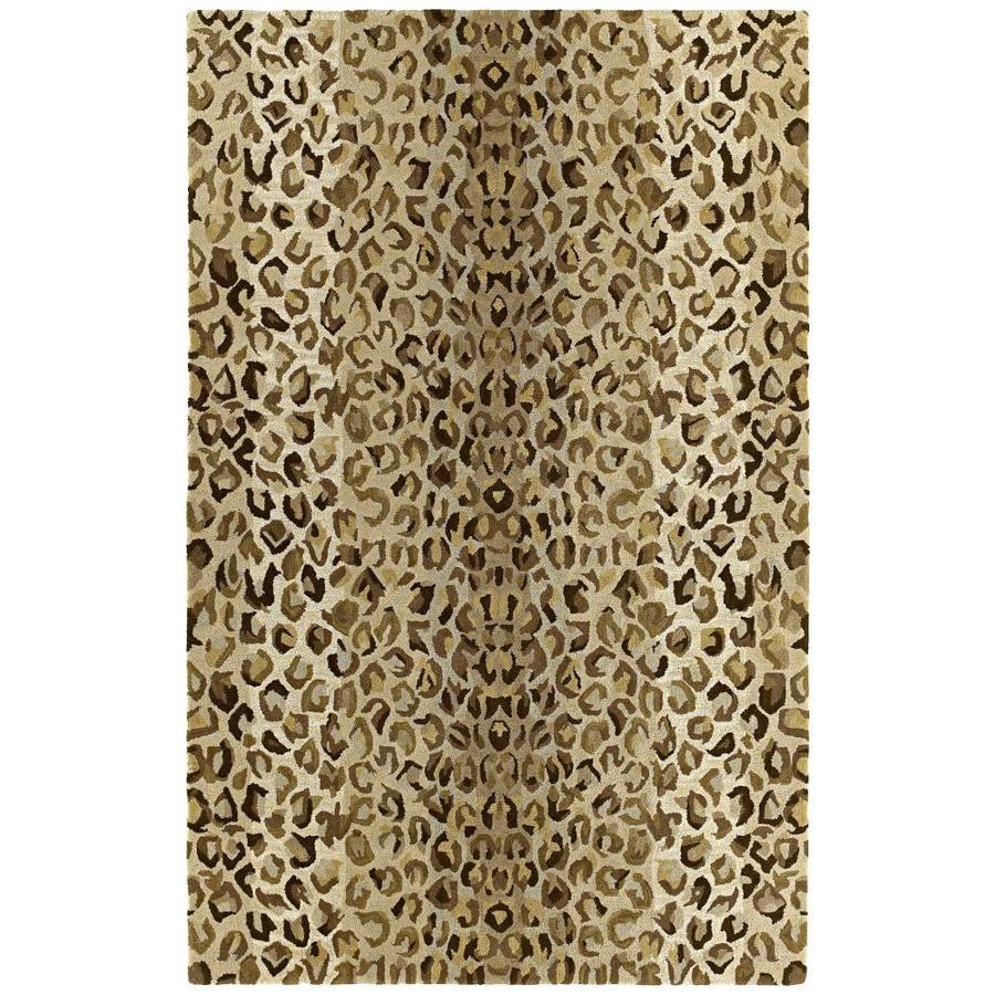 Kaleen Khazana Mocha Rectangular Indoor Handcrafted Novelty Throw Rug (Common: 2 x 3; Actual: 2-ft W x 3-ft L)