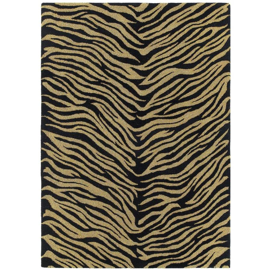Kaleen Khazana Ebony Rectangular Indoor Handcrafted Novelty Area Rug (Common: 10 x 13; Actual: 9.5-ft W x 13-ft L)