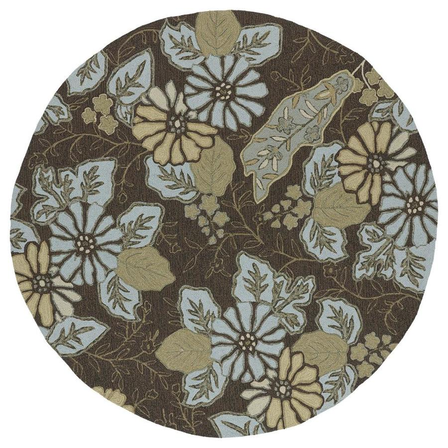 Kaleen Home and Porch Robin's Egg Round Indoor Handcrafted Nature Area Rug (Common: 6 x 6; Actual: 5.75-ft W x 5.75-ft L x 5.75-ft dia)