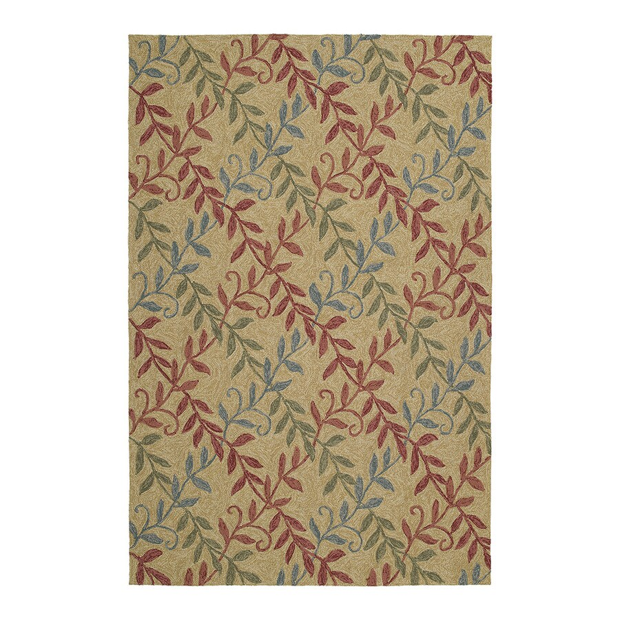 Kaleen Home and Porch Butterscotch Indoor/Outdoor Handcrafted Nature Runner (Common: 2 x 6; Actual: 2-ft W x 6-ft L)