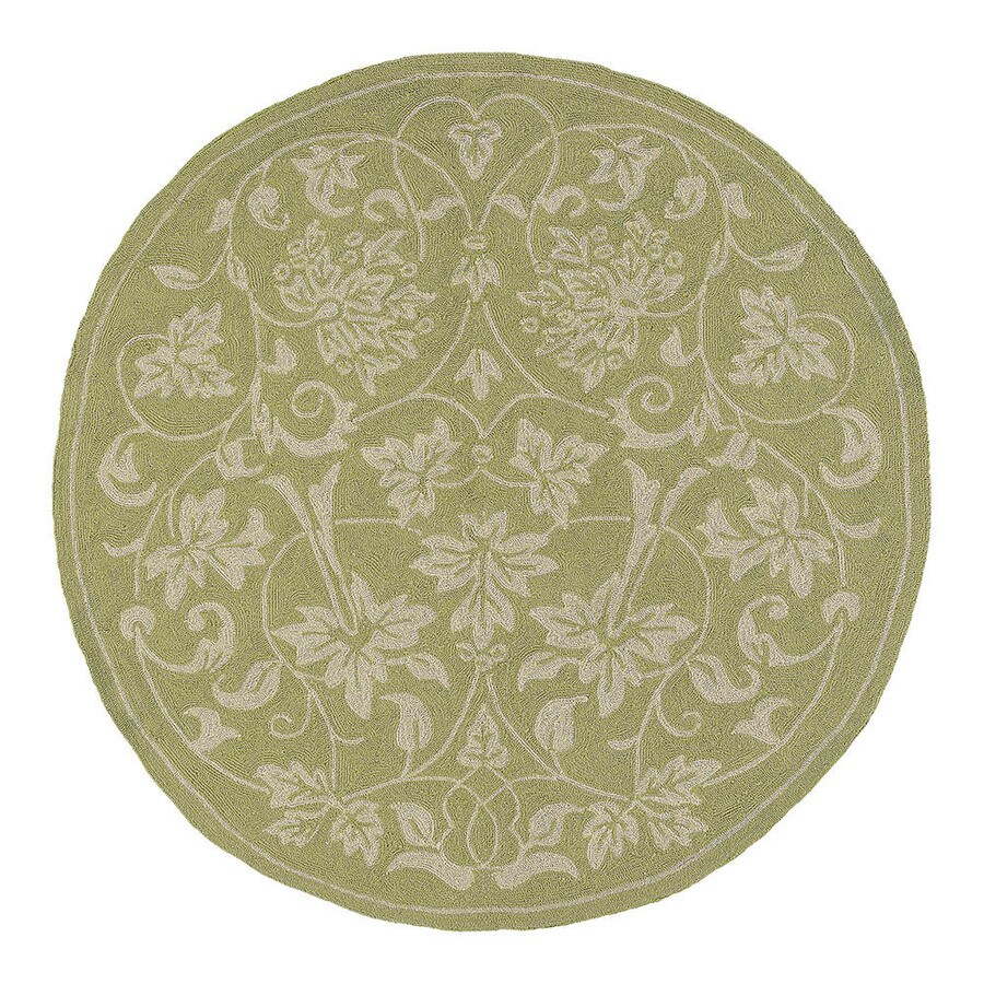 Kaleen Round Indoor and Outdoor Tufted Area Rug (Common: 8 x 8; Actual: 93-in W x 93-in L)