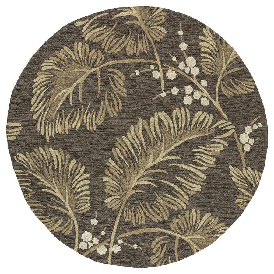 Kaleen Home and Porch Chocolate Round Indoor/Outdoor Handcrafted Nature Area Rug (Common: 8 x 8; Actual: 7.75-ft W x 7.75-ft L)