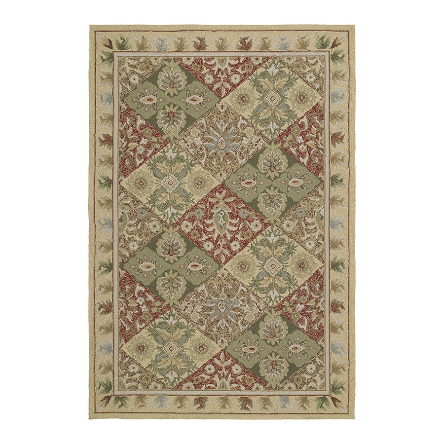 Kaleen Home and Porch Linen Rectangular Indoor/Outdoor Handcrafted Nature Throw Rug (Common: 2 x 3; Actual: 2-ft W x 3-ft L)