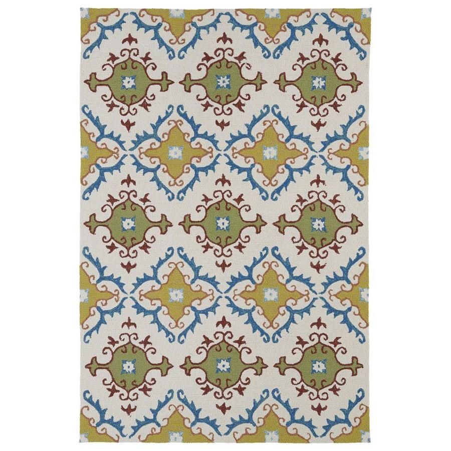 Kaleen Home and Porch Ivory Indoor Handcrafted Oriental Throw Rug (Common: 3 x 5; Actual: 3-ft W x 5-ft L)