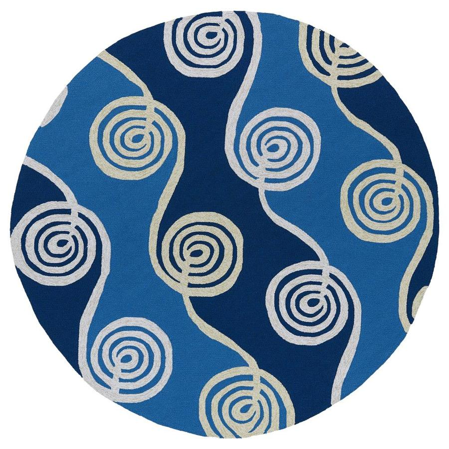 Kaleen Home and Porch Blue Round Indoor Handcrafted Oriental Area Rug (Common: 6 x 6; Actual: 5.75-ft W x 5.75-ft L x 5.75-ft dia)