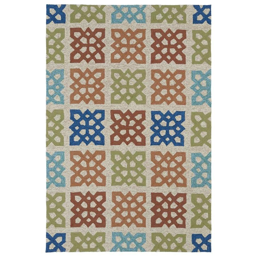 Kaleen Home and Porch Sand Indoor Handcrafted Oriental Area Rug (Common: 8 x 10; Actual: 7.5-ft W x 9-ft L)