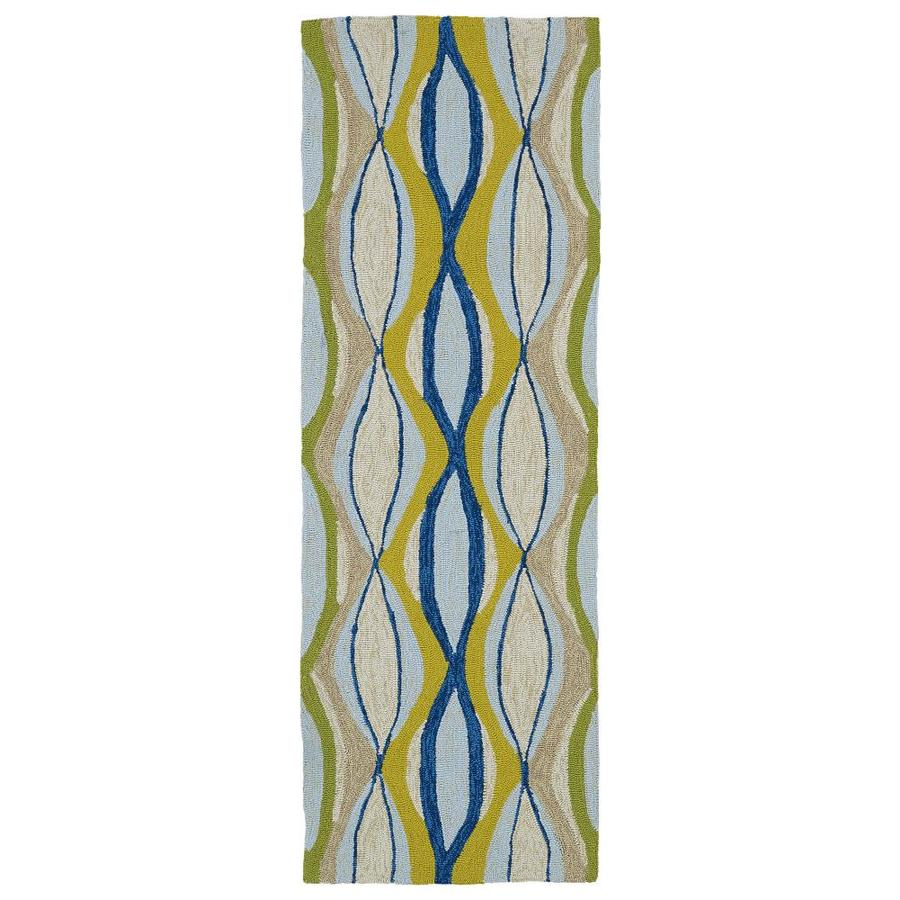 Kaleen Home and Porch Blue Indoor Handcrafted Oriental Runner (Common: 2 x 6; Actual: 2-ft W x 6-ft L)