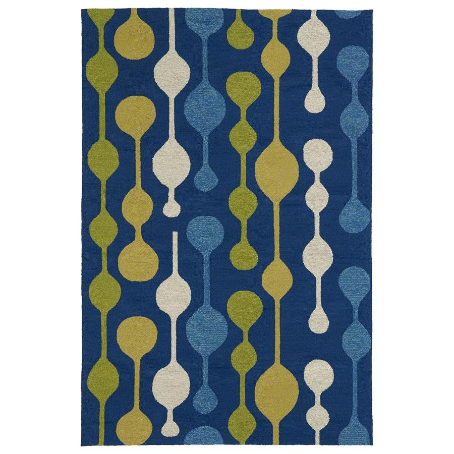 Kaleen Home and Porch Blue Indoor Handcrafted Oriental Throw Rug (Common: 3 x 5; Actual: 3-ft W x 5-ft L)