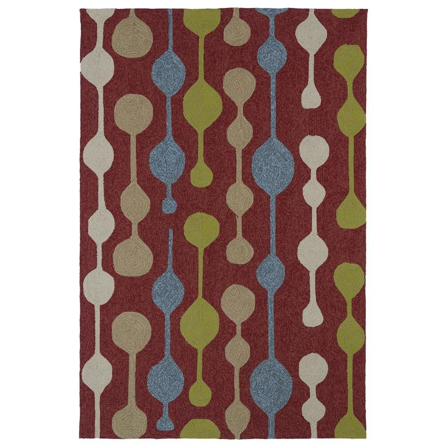 Kaleen Home and Porch Red Indoor Handcrafted Oriental Throw Rug (Common: 3 x 5; Actual: 3-ft W x 5-ft L)