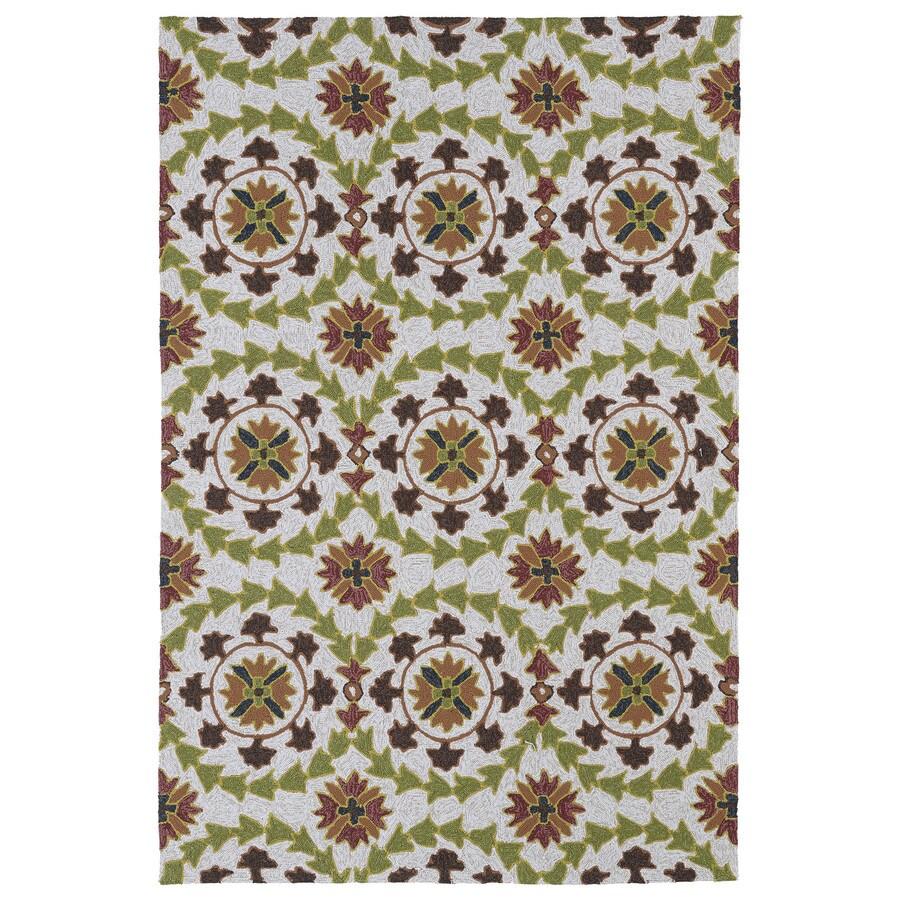 Kaleen Home and Porch Brown Rectangular Indoor and Outdoor Tufted Area Rug (Common: 8 x 9; Actual: 90-in W x 108-in L)