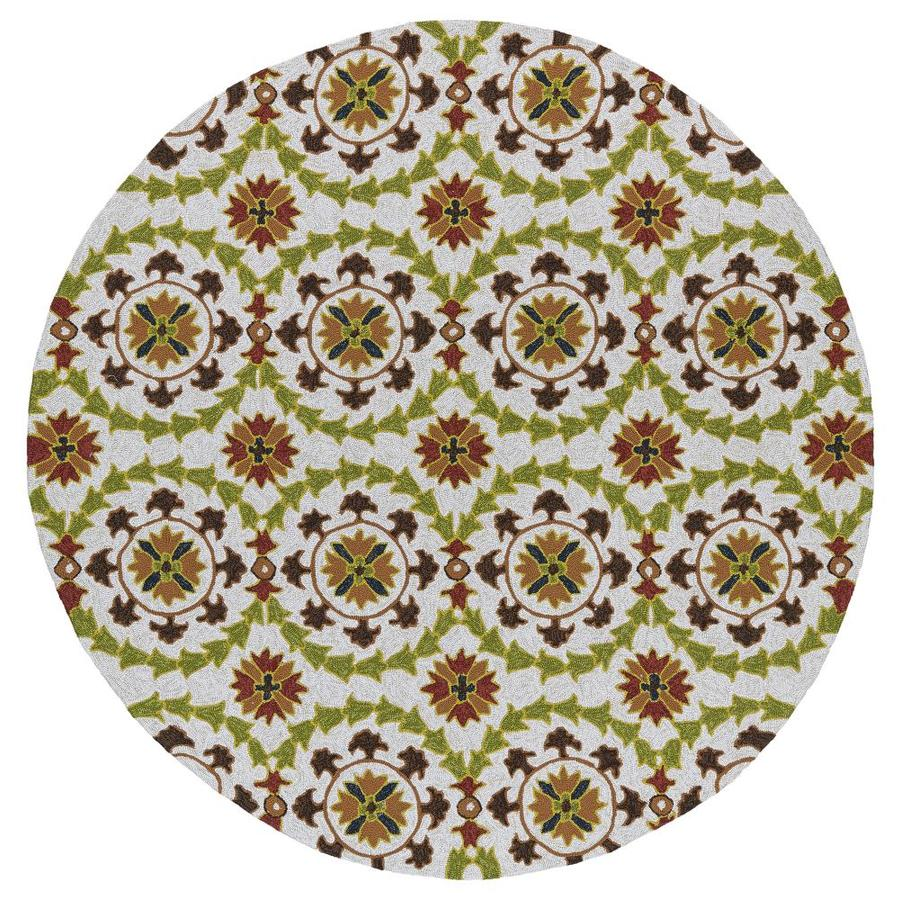 Kaleen Home and Porch Brown 7 Ft. 9 In. Round Area Rug