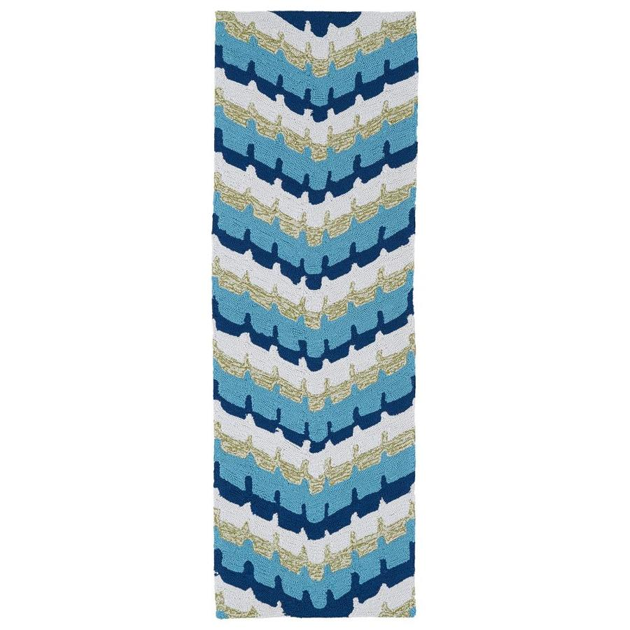 Kaleen Home and Porch Blue Rectangular Indoor Handcrafted Oriental Runner (Common: 2 x 6; Actual: 2-ft W x 6-ft L)