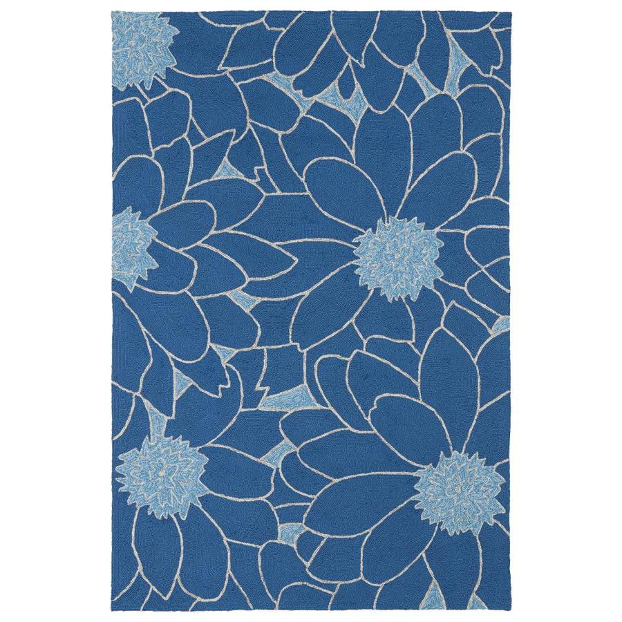 Kaleen Home and Porch Blue Indoor Handcrafted Oriental Area Rug (Common: 8 x 10; Actual: 7.5-ft W x 9-ft L)