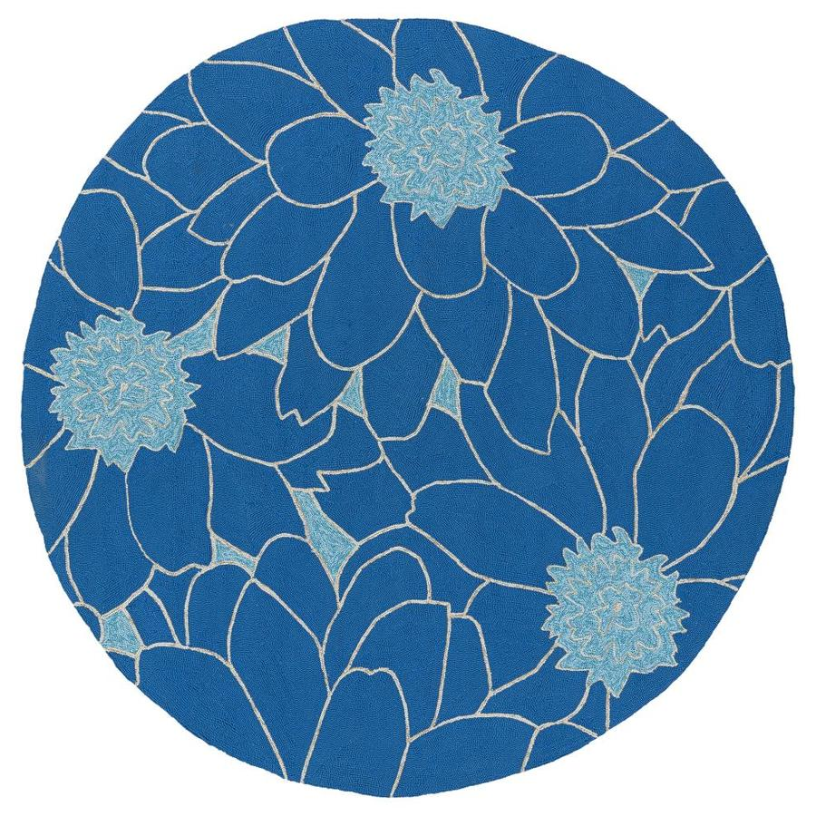 Kaleen Home and Porch Blue 7 Ft. 9 In. Round Area Rug