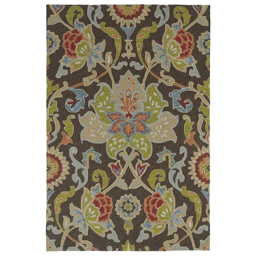 Kaleen Home and Porch Chocolate Indoor Handcrafted Oriental Throw Rug (Common: 3 x 5; Actual: 3-ft W x 5-ft L)