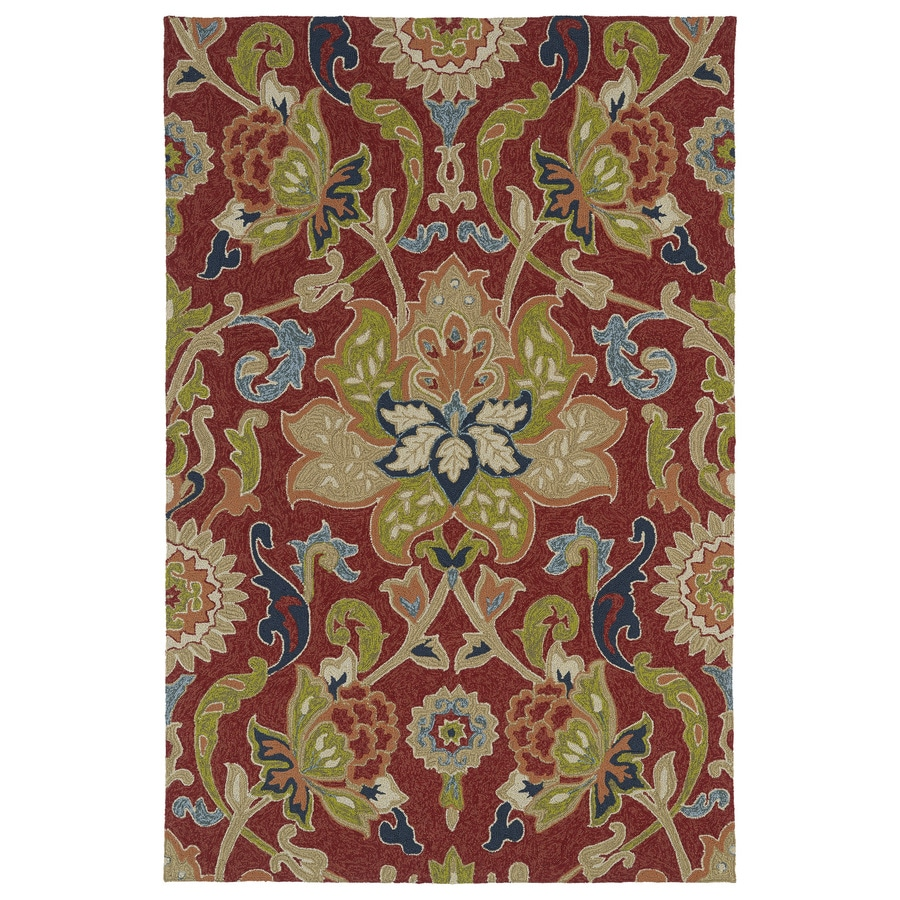 Kaleen Escape Red Rectangular Indoor and Outdoor Tufted Area Rug (Common: 5 x 8; Actual: 60-in W x 96-in L)