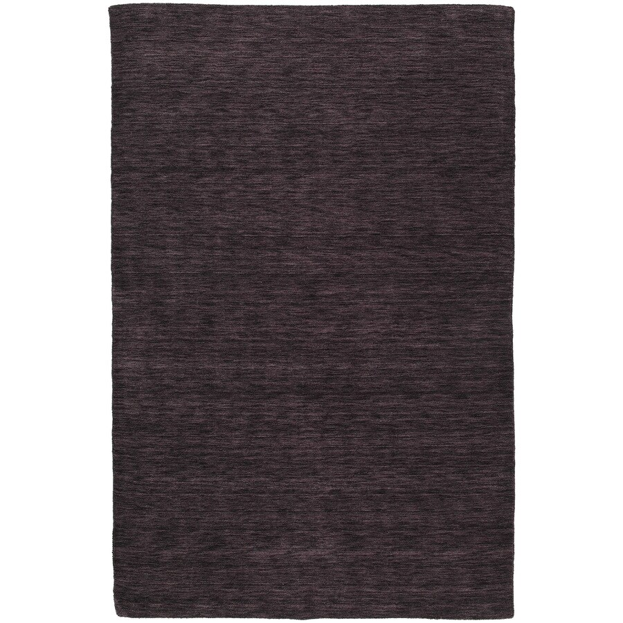 Kaleen Regale Rectangular Purple Solid Tufted Wool Area Rug (Common: 5-ft x 8-ft; Actual: 5-ft x 7.5-ft)