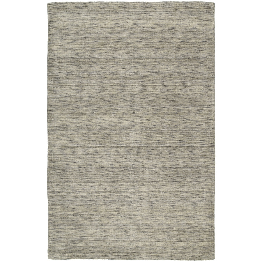 Kaleen Regale Rectangular Gray Solid Tufted Wool Area Rug (Common: 8-ft x 11-ft; Actual: 8-ft x 11-ft)