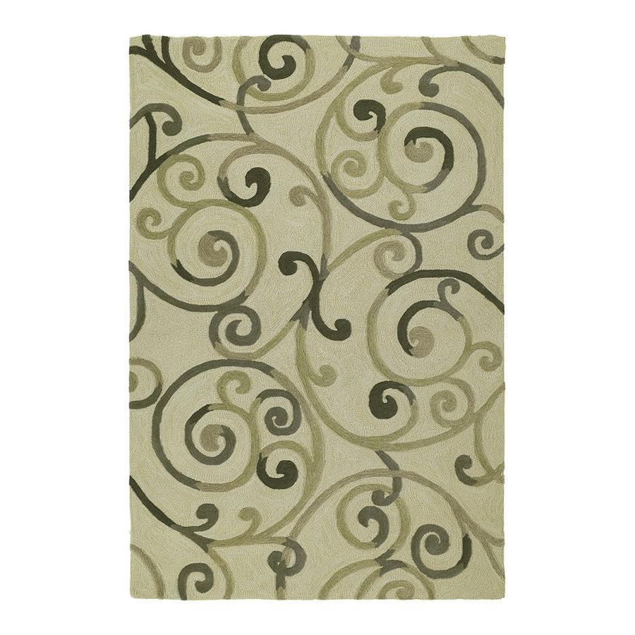 Kaleen Premier 5-ft x 7-ft 6-in Rectangular Linen Floral Area Rug