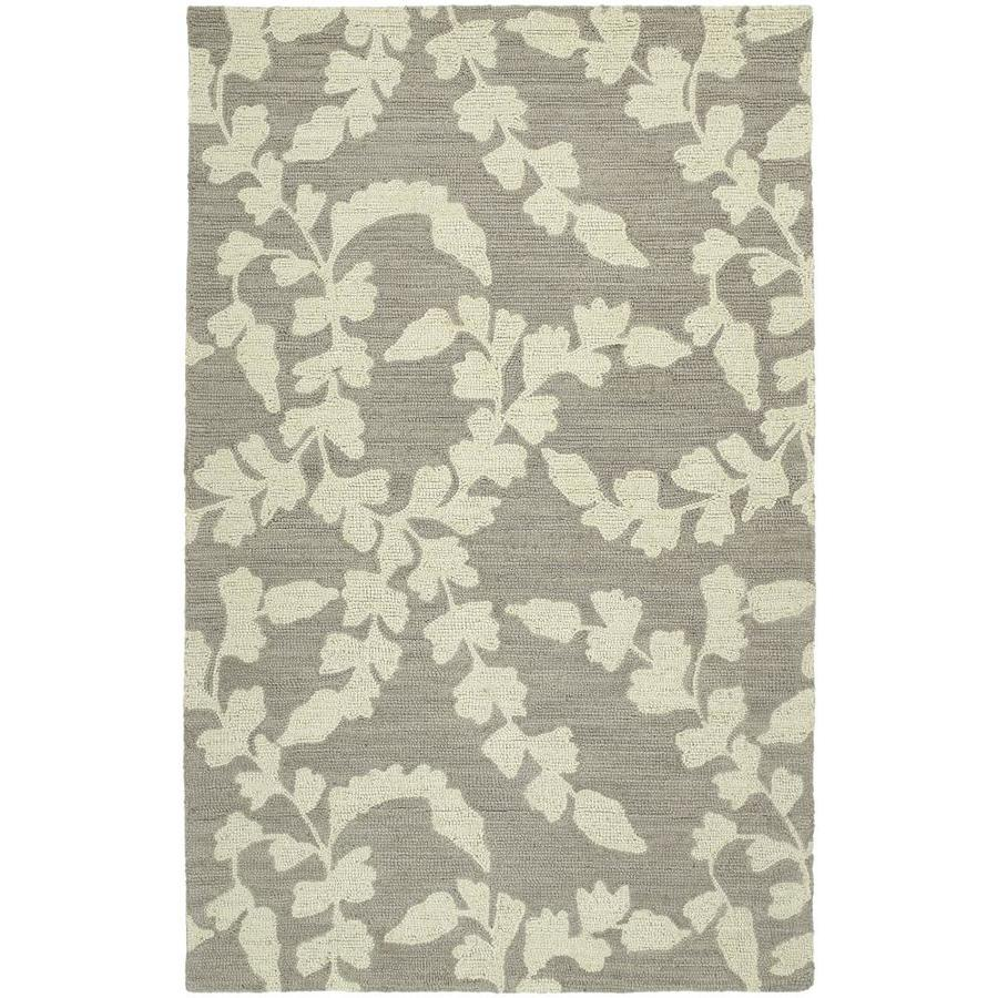 Kaleen Carriage Graphite Rectangular Indoor Handcrafted Nature Throw Rug (Common: 2 x 3; Actual: 2-ft W x 3-ft L)
