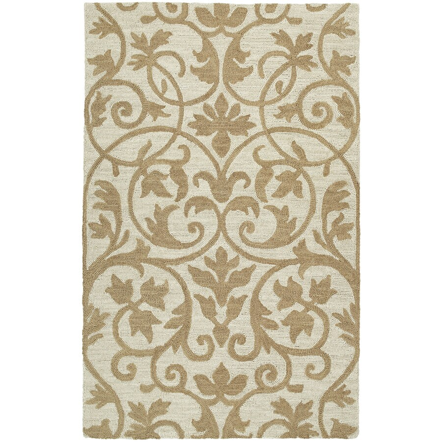 Kaleen Carriage Brown Rectangular Indoor Tufted Area Rug (Common: 5 x 8; Actual: 60-in W x 93-in L)