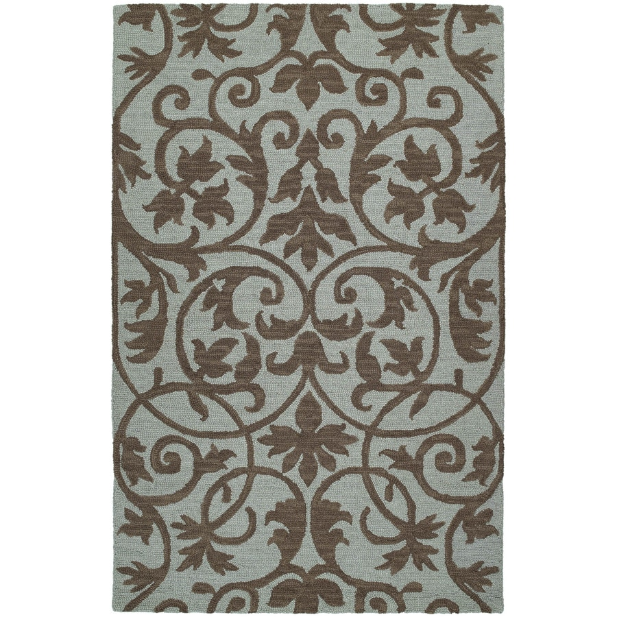 Kaleen Carriage Spa Rectangular Indoor Tufted Area Rug (Common: 5 x 8; Actual: 60-in W x 93-in L)