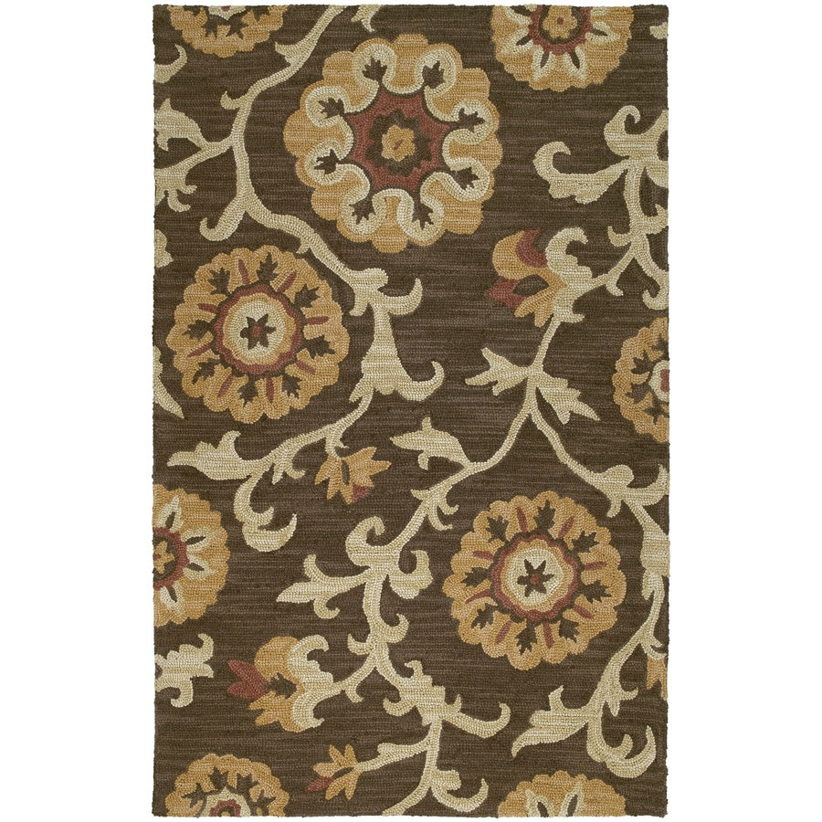 Kaleen Carriage Brown Rectangular Indoor Handcrafted Nature Area Rug (Common: 5 x 7; Actual: 5-ft W x 7.75-ft L x 0-ft Dia)