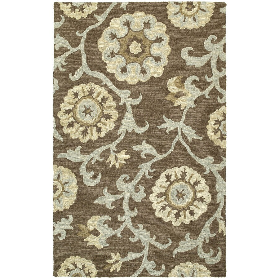 Kaleen Carriage Graphite Rectangular Indoor Handcrafted Nature Area Rug (Common: 5 x 7; Actual: 5-ft W x 7.75-ft L)