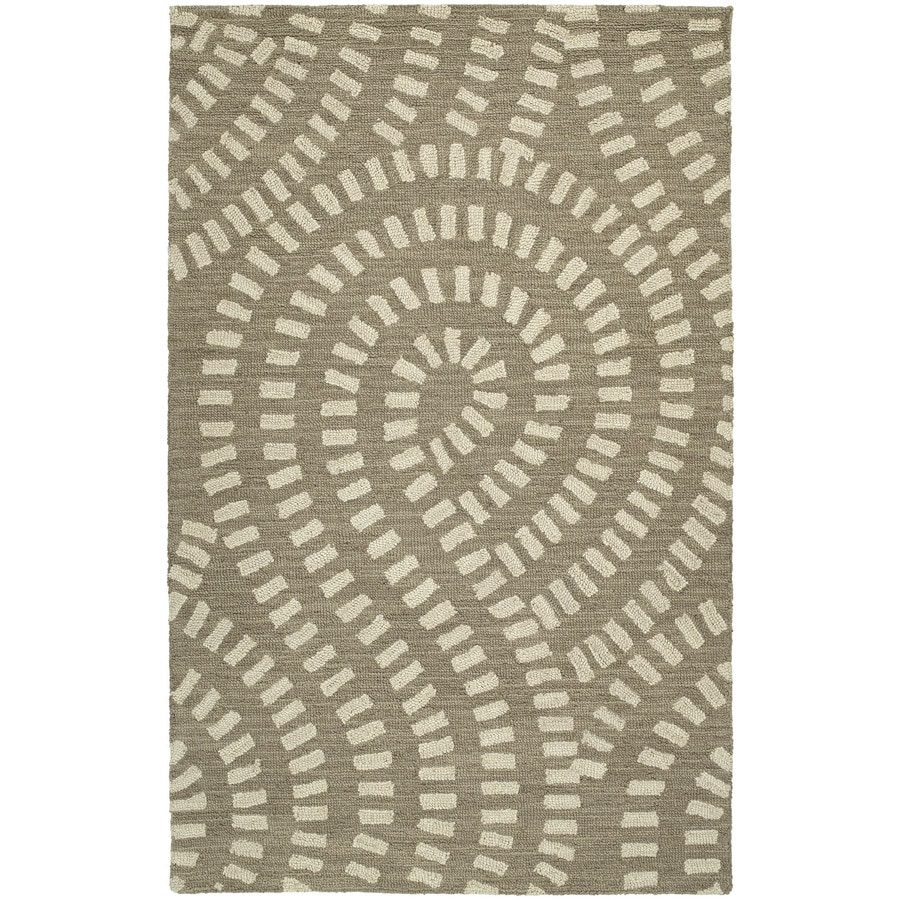 Kaleen Carriage Nutmeg Rectangular Indoor Tufted Area Rug (Common: 5 x 8; Actual: 60-in W x 93-in L)
